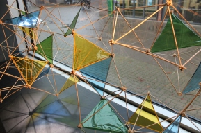 Tetrahedron structure by Rachel Barbaresi.