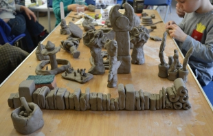 Clay-books,-clock,-towers